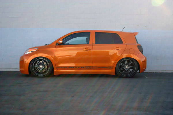 orange scion car scion air suspension air runner systems