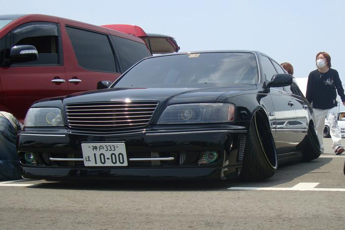 Vip car show in osaka japan nagative cambered wheels
