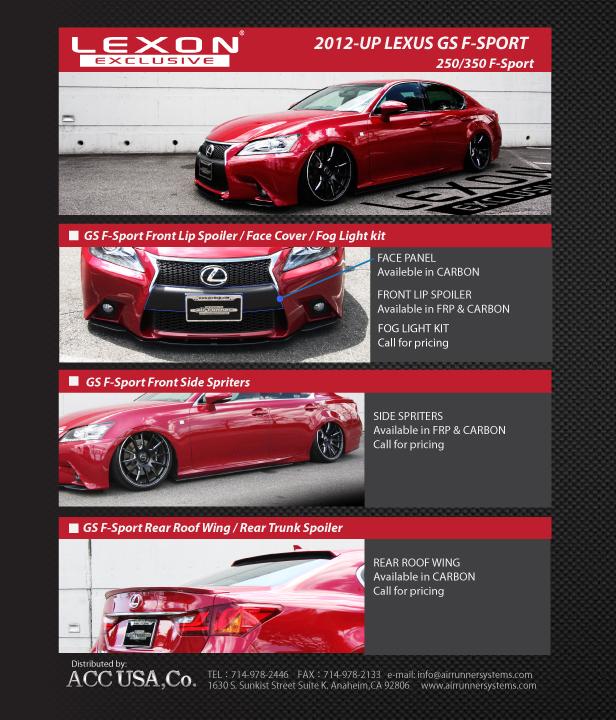 LEXON Exclusive Carbon Lip Kit For GS F-Sport