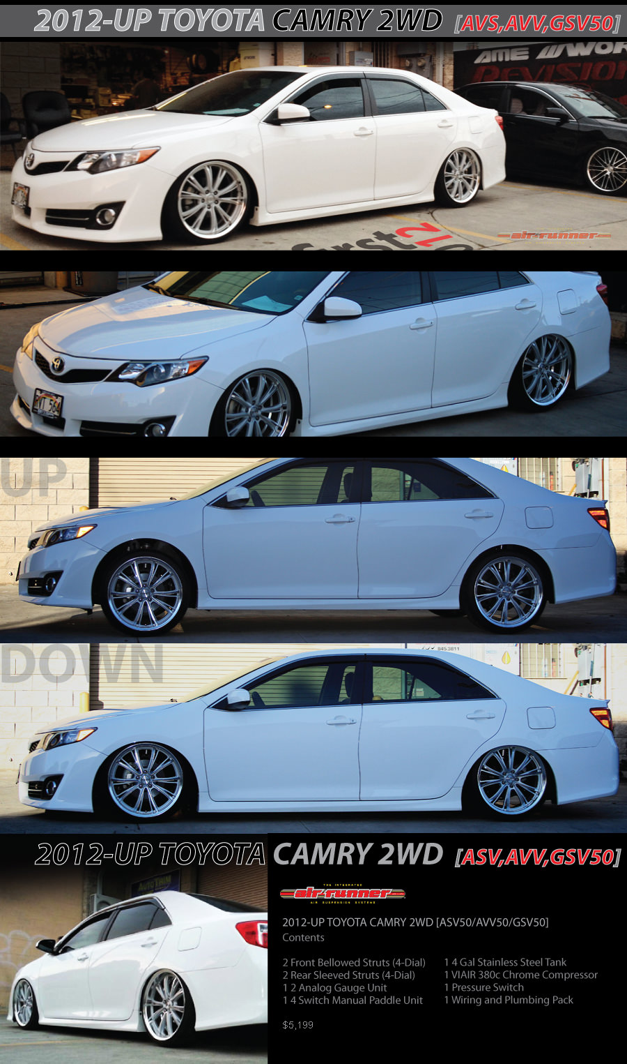 2012-UP TOYOTA CAMRY 2WD [ASV50/AVV50/GSV50] | Air Runner