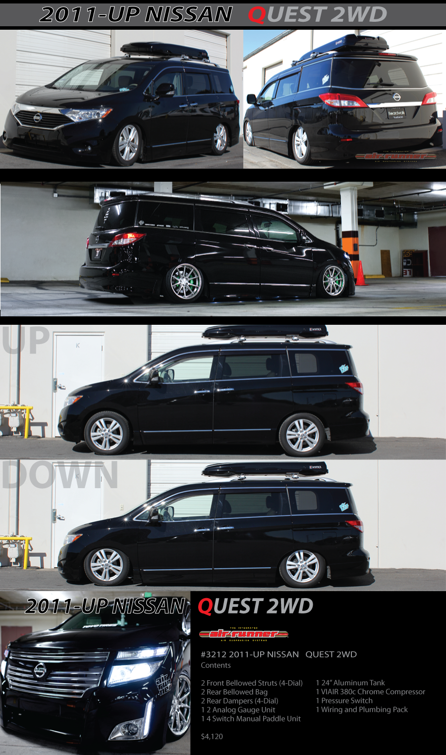 New Application #3212 NISSAN QUEST 2WD AirRunner System