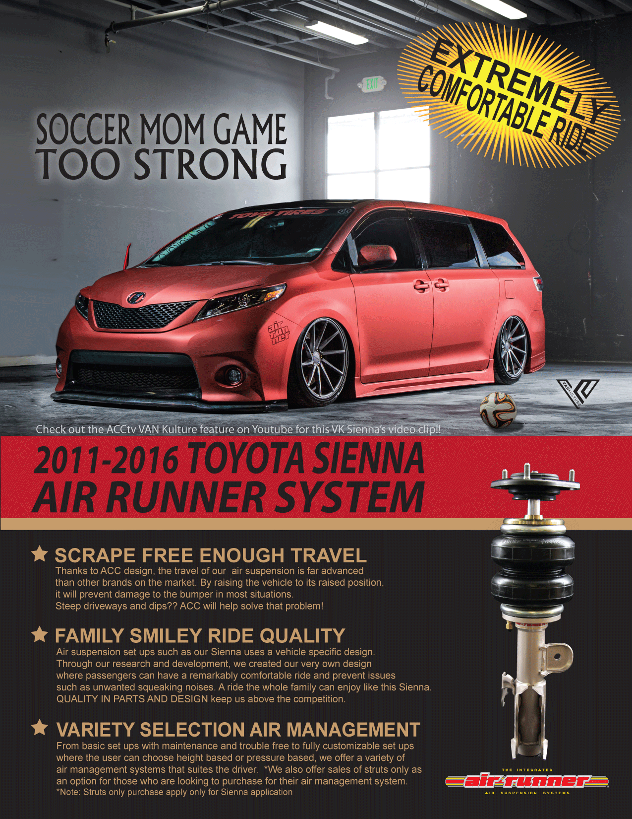 TOYOTA SIENNA AIRRUNNER UPGRADE and More | Air Runner Systems